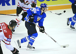 Antti Pihlstrom of Finland at ice-hockey game Canada vs Finland at Qualifying round Group F of IIHF WC 2008 in Halifax, on May 12, 2008 in Metro Center, Halifax, Nova Scotia, Canada. Canada won 6:3. (Photo by Vid Ponikvar / Sportal Images)