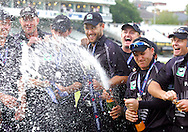 Photo © ANDREW FOSKER / SECONDS LEFT IMAGES 2008  - With Daniel Vettori centre the New Zealand team celebrate their series victory -   England v New Zealand Black Caps - 5th ODI - Lord's Cricket Ground - 28/06/08 - London -  UK - All rights reserved