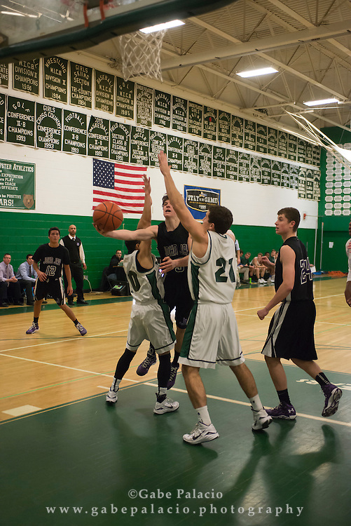 John Jay Varsity Basketball game vs. Brewster at Brewster High School on January 7, 2015. (photo by Gabe Palacio)