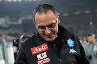 Maruzio Sarri Napoli sembra commosso dopo l'abbraccio con Gonzalo Higuain. <br /> Maruzio Sarri seems moved after the hug with Gonzalo Higuain <br /> Torino 29-10-2016 Juventus Stadium Football Calcio Serie A 2016/2017 Juventus - Napoli . Foto Filippo Alfero Insidefoto