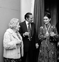 ROSETTE SAVILL, VAL SAVILL and MARTINE CAMPANA at a reception in London on 18th November 1974.