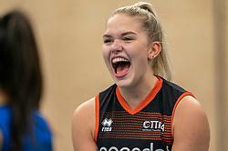 26-10-2019 NED: Talentteam Papendal - Sliedrecht Sport, Ede<br /> Round 4 of Eredivisie volleyball - Fleur Meinders #3 of Talent Team