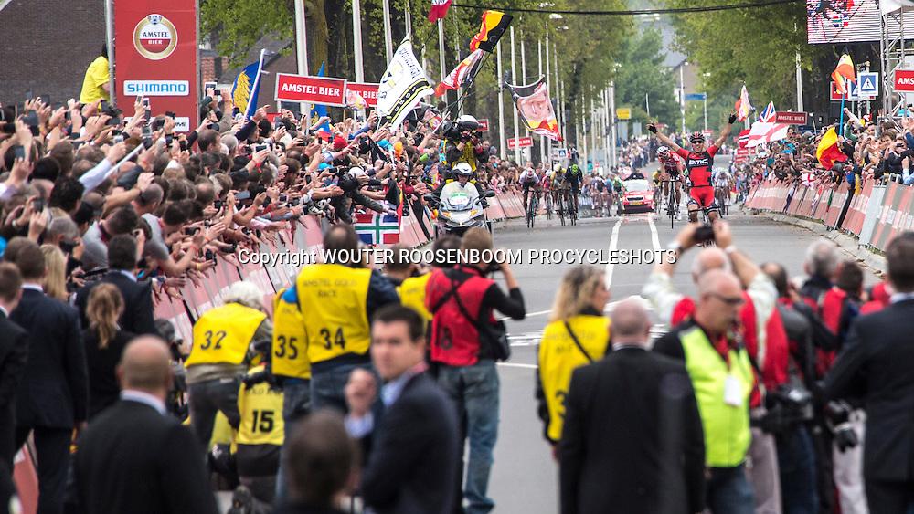 VALKENBURG - wielrennen, 20-04-2014, AMSTEL GOLD RACE, Philippe Gilbert wint de wedstrijd na een ontsnapping op de Cauberg voor Jelle Vanendert en Simon Gerrans