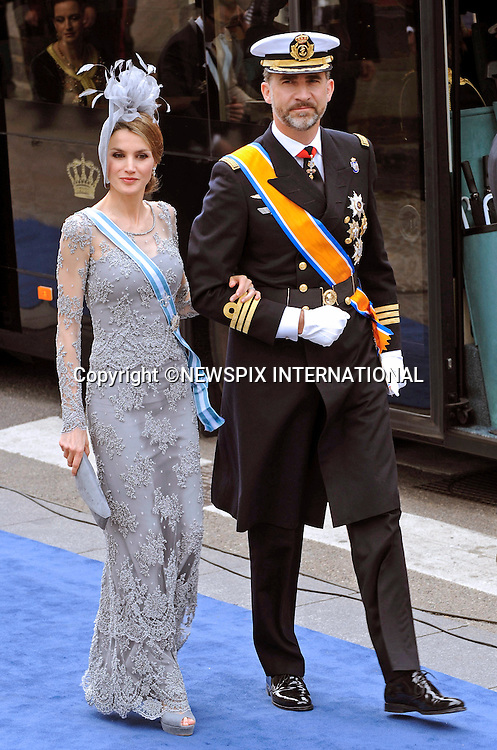 "30.04.2013; Amsterdam: KING WILLEM-ALEXANDER INAUGURATION.CROWN PRINCE FELIPE AND PRINCESS LETIZIA OF SPAIN.attend King Willem-Alexander's inauguration at Nieuwe Kerk, Amsterdam, The Netherlands, .Mandatory Credit Photos: ©NEWSPIX INTERNATIONAL..**ALL FEES PAYABLE TO: ""NEWSPIX INTERNATIONAL""**..PHOTO CREDIT MANDATORY!!: NEWSPIX INTERNATIONAL(Failure to credit will incur a surcharge of 100% of reproduction fees)..IMMEDIATE CONFIRMATION OF USAGE REQUIRED:.Newspix International, 31 Chinnery Hill, Bishop's Stortford, ENGLAND CM23 3PS.Tel:+441279 324672  ; Fax: +441279656877.Mobile:  0777568 1153.e-mail: info@newspixinternational.co.uk"