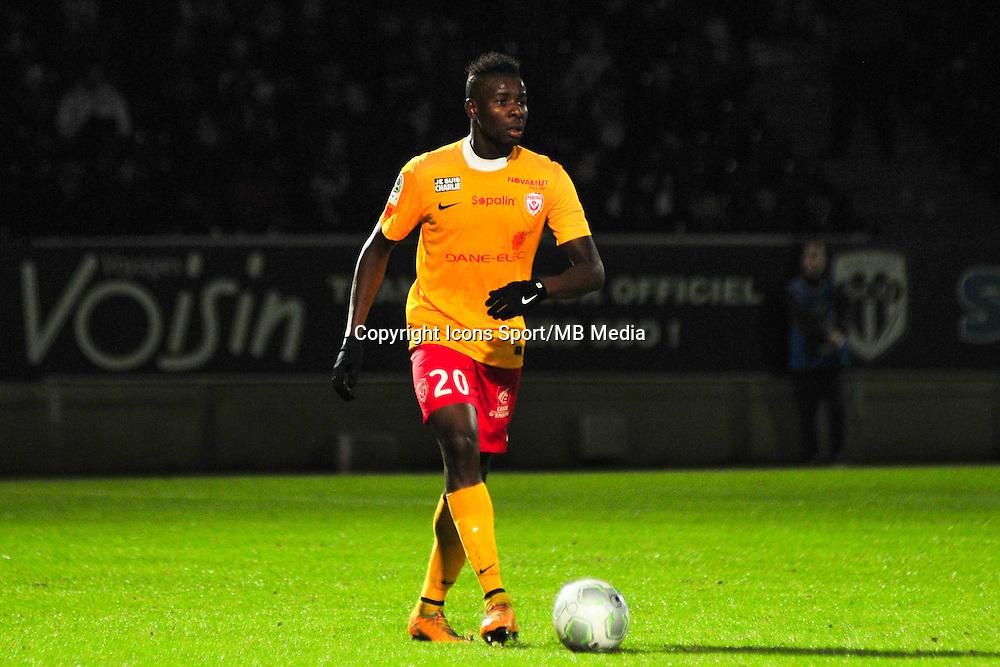 Ibrahim Amadou  - 09.01.2015 - Angers / Nancy - 19eme journee de Ligue 2 <br /> Photo : Philippe Le Brech / Icon Sport