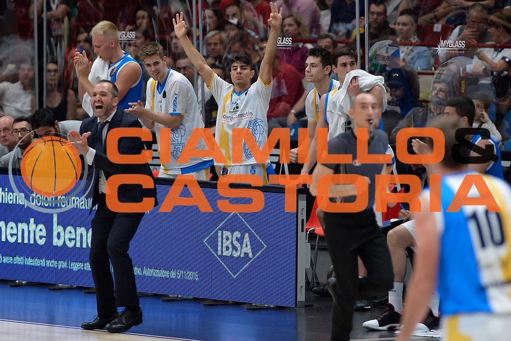 Betaland Capo d'Orlando<br /> Olimpia EA7 Emporio Armani Milano vs Vanoli Cremona<br /> Lega Basket Serie A 2016/2017<br /> PlayOff semifinale gara 2<br /> Milano 14/05/2017<br /> Foto Ciamillo-Castoria / I.Mancini