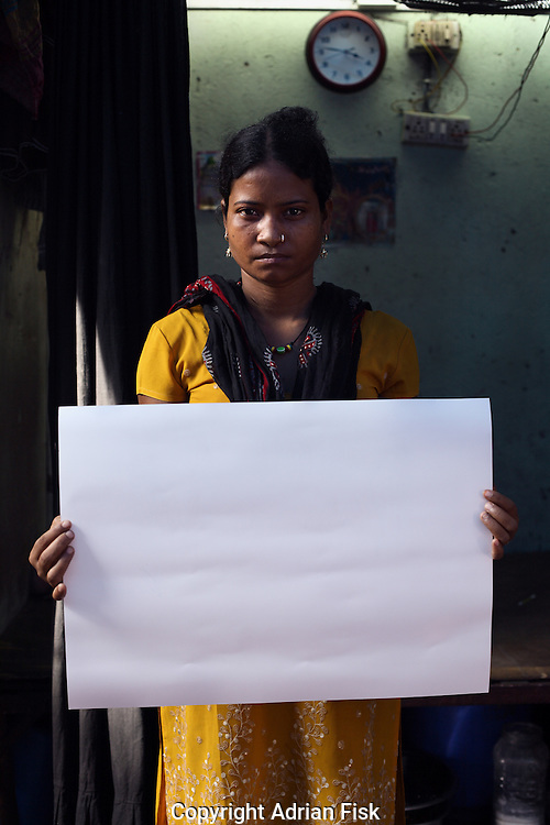 Radha - 26 yrs.Bombay.Muslim.Prostitute - Has eight children.'I want to leave this work, but I am waiting for my children to grow up'