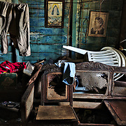 Inside an abandoned house in Havana