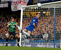 Photo: Ed Godden.<br /> Chelsea v Newcastle United. The FA Cup. 22/03/2006.<br /> John Terry (Chelsea) clears the ball from the line.