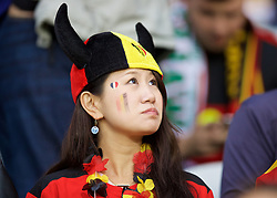 LILLE, FRANCE - Friday, July 1, 2016: A Belgium supporter before the UEFA Euro 2016 Championship Quarter-Final match against Wales at the Stade Pierre Mauroy. (Pic by David Rawcliffe/Propaganda)
