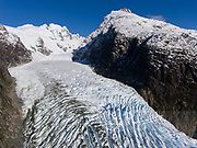 Bernal glacier (Benito glacier) and Estero las Montanas located in Alacalufes National Reserve, Chile.