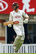 Ben Foakes of Surrey during the Specsavers County Champ Div 1 match between Surrey County Cricket Club and Warwickshire County Cricket Club at the Kia Oval, Kennington, United Kingdom on 23 June 2019.