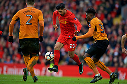 LIVERPOOL, ENGLAND - Saturday, January 28, 2017: Liverpool's Emre Can in action against Wolverhampton Wanderers during the FA Cup 4th Round match at Anfield. (Pic by David Rawcliffe/Propaganda)