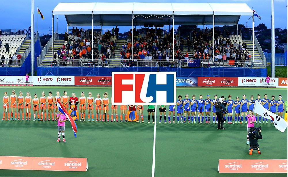 New Zealand, Auckland - 25/11/17  <br /> Sentinel Homes Women&rsquo;s Hockey World League Final<br /> Harbour Hockey Stadium<br /> Copyrigth: Worldsportpics, Rodrigo Jaramillo<br /> Match ID: 10318 - NED vs KOR<br /> Photo: