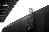 Amy Weston headshot session at Smith Bridge Plymouth, NH.  ©2016 Karen Bobotas Photographer