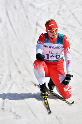 SKUPIEN Witold POL LW5/7 competing in the ParaSkiDeFond, Para Nordic Skiing, Sprint at  the PyeongChang2018 Winter Paralympic Games, South Korea.