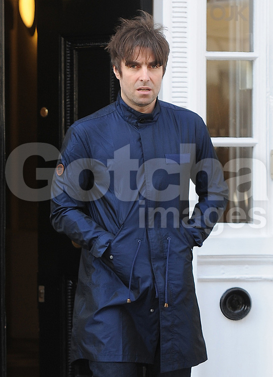 Liam Gallagher and girlfriend Debbie Gwyther out and about in London, UK. 06/03/2015<br />