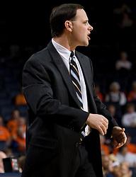 Richmond head coach Michael Shafer.  The Virginia Cavaliers women's basketball team faced the Richmond Spiders at the John Paul Jones Arena in Charlottesville, VA on November 18, 2007.