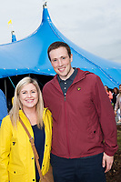 Repro Free: Jenny and Eamon Mannion from Oranmore  at Gavin James who kicked off the Absolut Big Top music programme at the 40th Galway International Arts Festival. The Festival runs until 30 July and includes a world-class music line-up including Brian Wilson and his 10-piece band who this Sunday will perform the legendary album Pet Sounds in its entirety along with a string of Beach Boys hits. For more see giaf.ie   Big Top. Photo:Andrew Downes, xposure .