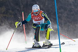 22.02.2018, Yongpyong Alpine Centre, Pyeongchang, KOR, PyeongChang 2018, Ski Alpin, Herren, Slalom, 1 DG, im Bild Andre Myhrer (SWE) // Andre Myhrer of Sweden in action during the men's 1st run Slalom Race of the Pyeongchang 2018 Winter Olympic Games at the Yongpyong Alpine Centre in Pyeongchang, South Korea on 2018/02/22. EXPA Pictures © 2018, PhotoCredit: EXPA/ Johann Groder