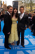 """Martin Freeman, Zooey Deschanel and Sam Rockwell arrive at the World Premiere of """"Hitchhiker's Guide To The Galaxy"""" at UCI Empire, Leicester Square on April 20, 2005 in London.. ONE TIME USE ONLY - DO NOT ARCHIVE  © Copyright Photograph by Dafydd Jones 66 Stockwell Park Rd. London SW9 0DA Tel 020 7733 0108 www.dafjones.com"""