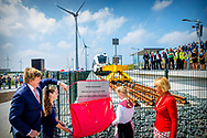 20-6-2018 EEMSHAVEN - King Willem-Alexander during the opening of the new railway between Roodeschool and Eemshaven. copyrught robin utrecht