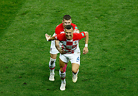 Ivan Perisic (Croatia) and Ante Rebic (Croatia) celebrate after 1-1<br /> Moscow 15-07-2018 Football FIFA World Cup Russia  2018 Final / Finale <br /> France - Croatia / Francia - Croazia <br /> Foto Matteo Ciambelli/Insidefoto