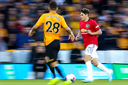 Daniel James of Manchester United takes on Joao Moutinho of Wolverhampton Wanderers - Mandatory by-line: Robbie Stephenson/JMP - 19/08/2019 - FOOTBALL - Molineux - Wolverhampton, England - Wolverhampton Wanderers v Manchester United - Premier League