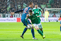 BREMEN, Dec. 8, 2018  Bremen's Milot Rashica (R) vies with Duesseldorf's Robin Bormuth during a German Bundesliga match between SV Werder Bremen and Fortuna Duesseldorf, in Bremen, Germany, on Dec. 8, 2018. Duesseldorf lost 1-3. (Credit Image: © Kevin Voigt/Xinhua via ZUMA Wire)