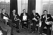 8/04/1964<br /> 04/28/1964<br /> 28 April 1964<br /> Watney Sales Conference at the Shelbourne Hotel, Dublin. At the conference were (l-r): Mr C. Dean; ?; Mr N. Walsh; Mr. J. McManus and ?.