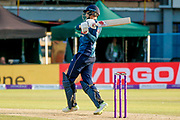England ODI batsman Joe Root gets a boundary to take him to a century during the 3rd Royal London ODI match between England and India at Headingley Stadium, Headingley, United Kingdom on 17 July 2018. Picture by Simon Davies.