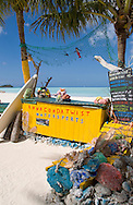A colourful watersports kiosk on the beach at Jolly Bay, Antigua, Caribbean,The West Indies,cocos,bay,shop,kiosk,shells