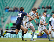 Twickenham, GREAT BRITAIN,  Cambridges',  Paul LOUDON, running with the ball during the 2010 Varsity Rugby match Oxford vs Cambridge played at the RFU Stadium Twickenham, Surrey on Thursday  09/12/2010 [Photo, Peter Spurrier/Intersport-images]
