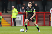 Forest Green Rovers Paul Digby(20) on the ball during the EFL Sky Bet League 2 match between Crawley Town and Forest Green Rovers at The People's Pension Stadium, Crawley, England on 6 April 2019.