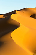 Sahara Desert landscape, Merzouga, Erg Chebbi region of the Moroccan Sahara, Southern Morocco, 2015-11-03. <br />