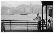 looking out over Hong Kong Harbour.