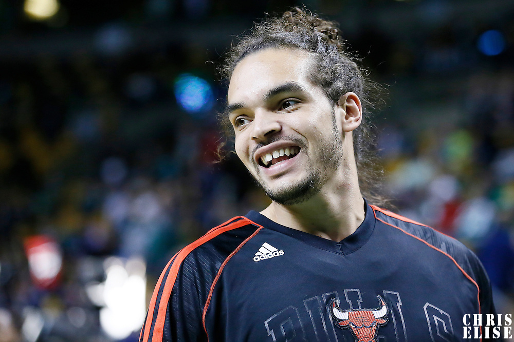 18 January 2013: Chicago Bulls center Joakim Noah (13) is seen prior to the Chicago Bulls 00-00 victory over the Boston Celtics at the TD Garden, Boston, Massachusetts, USA.