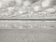 Minimalist monochrome beach