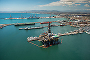 Oil Rig in for repairs in Cape Town Port