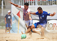 CATANIA, ITALY - AUGUST 16: Beach Soccer friendly match between Paraguay and Greece on August 16, 2019 in Catania, Italy. (Photo by Quality Sport Images)