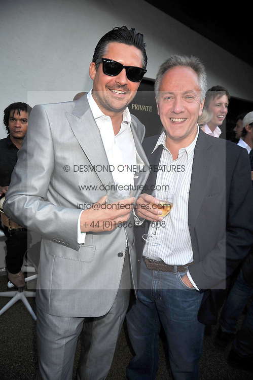 Left to right, EDWARD TAYLOR and WILLIAM VAN STRAUBENZEE  at the launch party of the new Embargo 59 nightclub at 533 Kings Road, London on 25th June 2009.