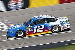 September 14, 2018 - Las Vegas, Nevada, United States of America - Ryan Blaney (12) brings his race car down the front stretch during practice for the South Point 400 at Las Vegas Motor Speedway in Las Vegas, Nevada. (Credit Image: © Chris Owens Asp Inc/ASP via ZUMA Wire)