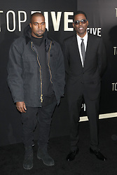 Image ©Licensed to i-Images Picture Agency. 03/12/2014. New York, United States. (L-R) Kanye West and Chris Rock at the premiere of Top Five at The Ziegfeld Theater in New York City. Picture by Face to Face / i-Images<br /> UK ONLY