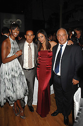 Left to right, NAOMI CAMPBELL, LEWIS HAMILTON, ROSARIO DAWSON and PHILIP GREEN at the 10th annual GQ Men of the Year Awards held at the Royal Opera House, Covent Garden, London on 4th September 2007.<br />