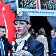 XR Fashion Boycott: RIP London Fashion Week Funeral March demand to end London Fashion Week at 180 the Strand, on 17 September 2019, London, UK.