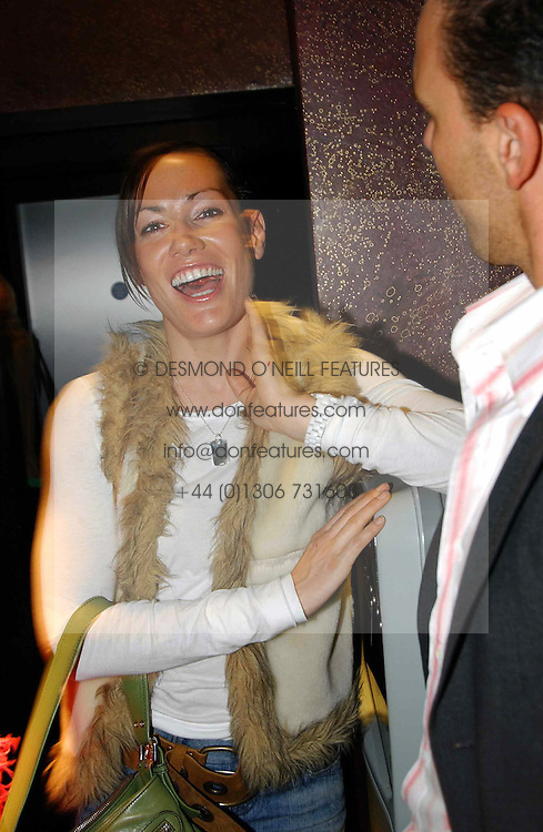 MISS TARA PALMER-TOMKINSON at a party to celebrate a new collection of sexy underware by Janet Reger called 'Naughty Janet' held at 5 Cavendish Square, London on 19th October 2004.<br /><br />MINIMUM REPRODUCTION FEE - SEE OUR WEB SITE<br /><br />NON EXCLUSIVE - WORLD RIGHTS-