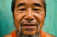 A portrait of Y Kong, the 88-year-old former king of the Co Tu nation in central Vietnam.