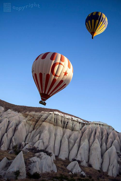 Hot air balloons in Cappadocia Turkey