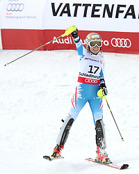 16.02.2013, Planai, Schladming, AUT, FIS Weltmeisterschaften Ski Alpin, Slalom, Damen, 2. Durchgang, im Bild Bernadette Schild (AUT) // Bernadette Schild of Austria  reacts after womens Slalom at the FIS Ski World Championships 2013 at the Planai Course, Schladming, Austria on 2013/02/16. EXPA Pictures © 2013, PhotoCredit: EXPA/ Martin Huber