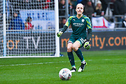 Manchester City Women goalkeeper Ellie Roebuck (26) passes the ball during the FA Women's Super League match between Manchester City Women and West Ham United Women at the Sport City Academy Stadium, Manchester, United Kingdom on 17 November 2019.